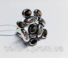 Массивное кольцо в серебре с  раухтопазами Амидея