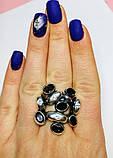 Масивне кільце в сріблі з раухтопазами Амидея, фото 6