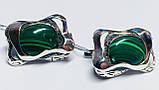 Сережки у сріблі з овальним малахітом Гетера, фото 2