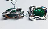 Сережки у сріблі з овальним малахітом Гетера, фото 3