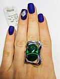 Перстень зі срібла з овальним малахітом Гетера, фото 3