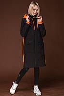 Женская курка Towmy черный с оранжевым 8066