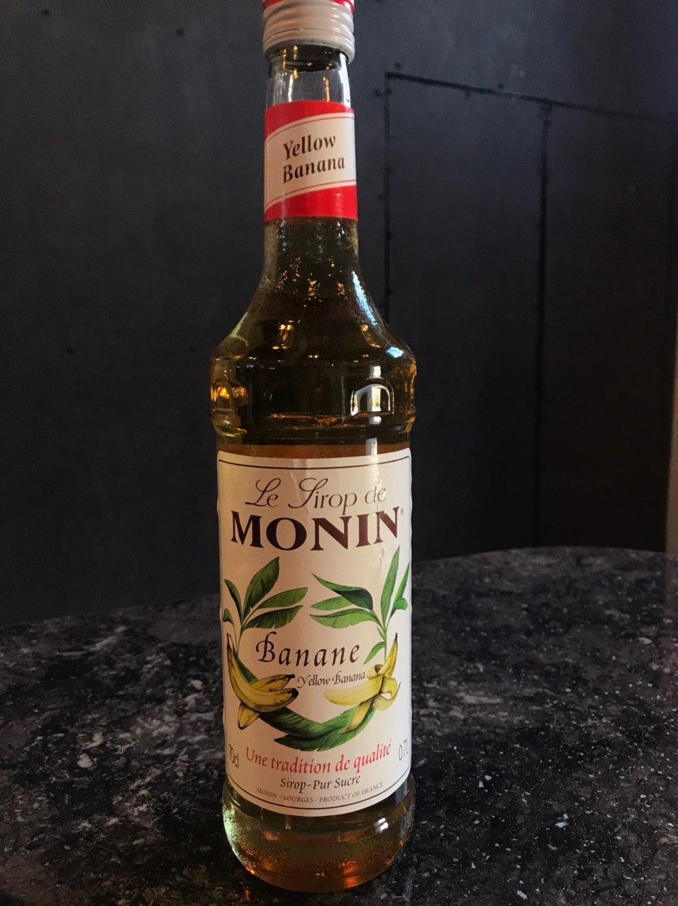 """Сиропы ТМ """"MONIN"""" """"Банан жёлтый"""" 700мл  Сироп для кофе и коктейлей Розница ОПТ"""