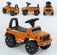 Машина-толокар 808 G-8109 JOY, цвет оранжевый, русское озвучивание, световые эффекты, багажник