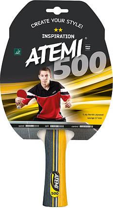 Ракетка для настольного тенниса ATEMI 500C ** INSPIRATION, фото 2