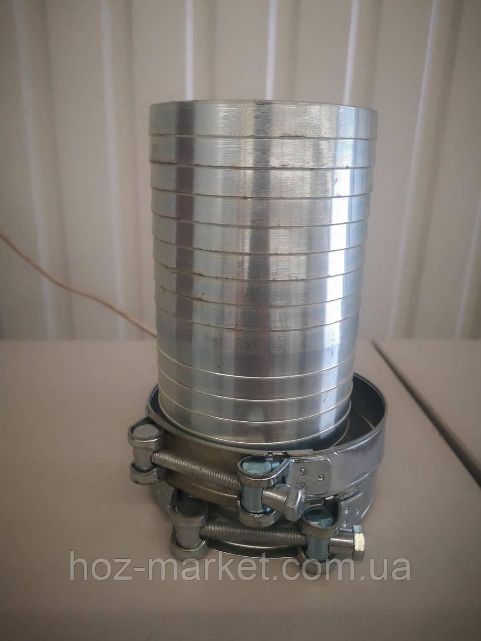 Соединитель оцинкованный (елочка) на рукав д.100-102мм