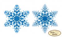 Схема для вышивки бисером нанесена на плотный бархатистый велюр Tela Artis Снежинка ВЛ-001