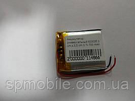 Акумулятор 603035 для China (Li-ion 3.7 В 700мА·год), 35*30* 6мм)