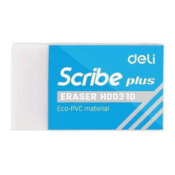 Ластик Deli EH00310 белый прямоугольный Scribe plus 54х20х10мм синтетич