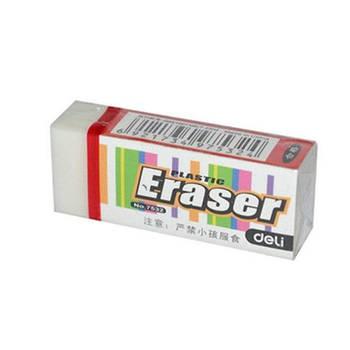 Ластик Deli 7532 белый прямоугольный 48х19х12мм синтетич