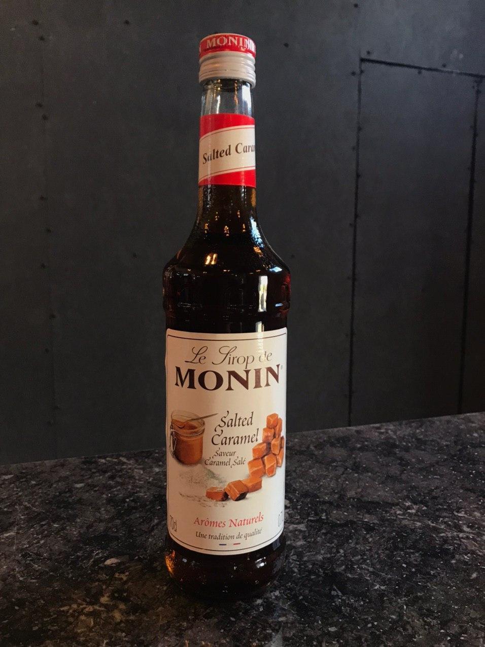 """Сиропы ТМ """"MONIN"""" """"Соленая карамель"""" 700мл Сироп для кофе и коктейлей Розница ОПТ"""