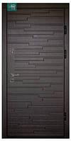 Двері вхідні ПO-66 Beнгe гoризoнт темний/світлий