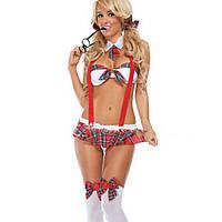 Сексуальное белье, костюм развратной отличницы (р.40-42), школьница, ролевой костюм, 132