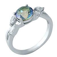 Серебряное кольцо Kolibri с натуральным мистик топазом (1960912) 18 размер