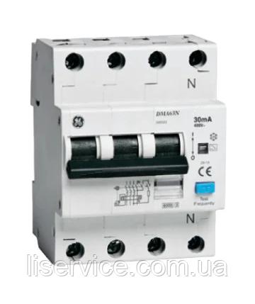 Диф. автом. вимикач General Electric DMA63NC25/030 4P A, 6kA