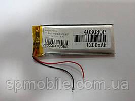 Аккумулятор 403080 для China (Li-ion 3.7В 1200мА·ч), 77*32*4 мм)