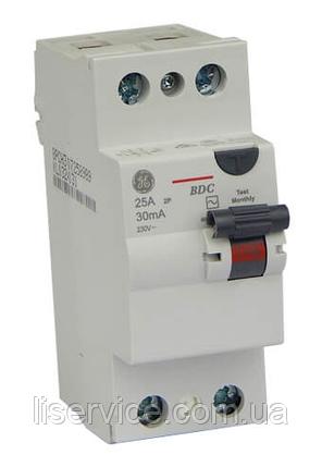 Пристрій зах. відкл. General Electric BDC225/030 2P, AC, фото 2