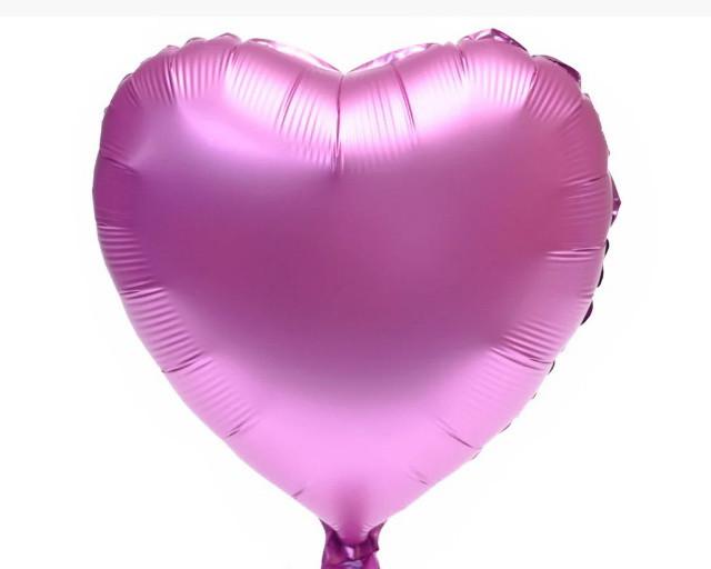"""Фольгована кулька серце рожевий сатин 18"""" Китай"""