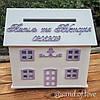 Коробка для грошей БУДИНОК з вашими іменами та датою весілля!