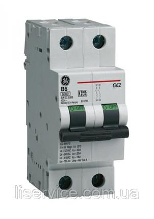 Автоматичний вимикач General Electric G62 C25 6kA 2р, фото 2