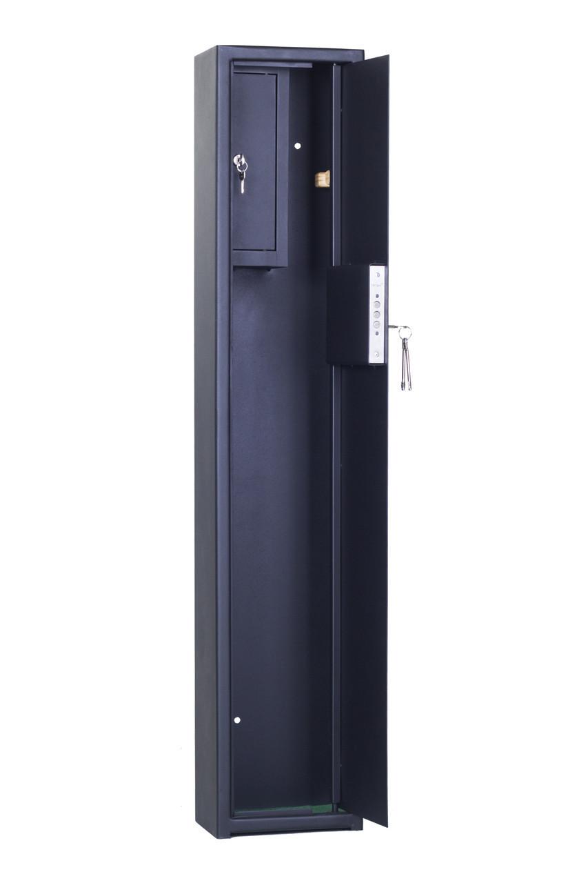 Взломостойкий оружейный сейф для 1 ружья до 123см высотой, СО 1250 1Т