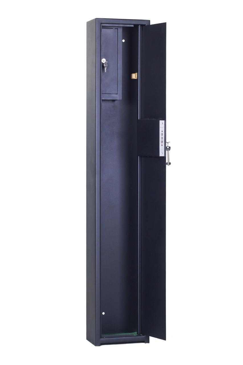 Взломостойкий оружейный сейф для 1 ружья до 138см высотой, СО 1400 1Т