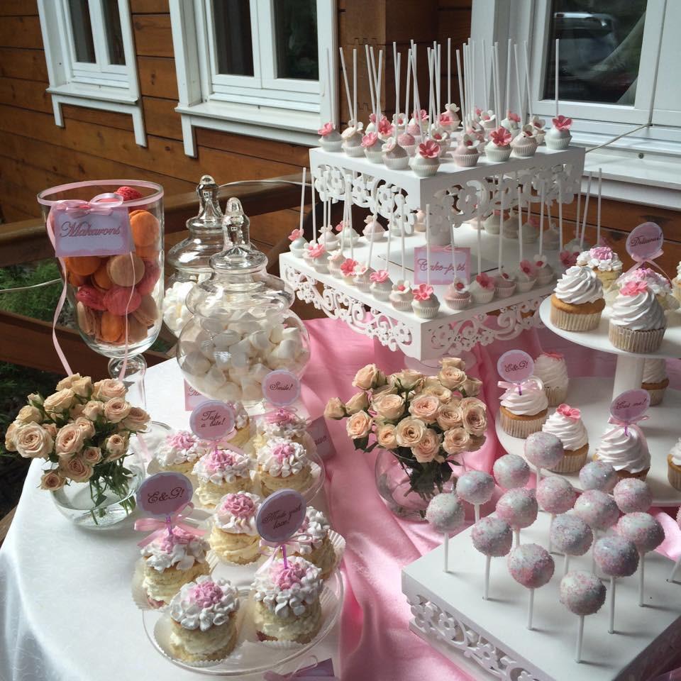 Кэнди бар в нежно розовых тонах