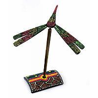 Стрекоза-балансир бамбуковая расписная (13х14х15 см)