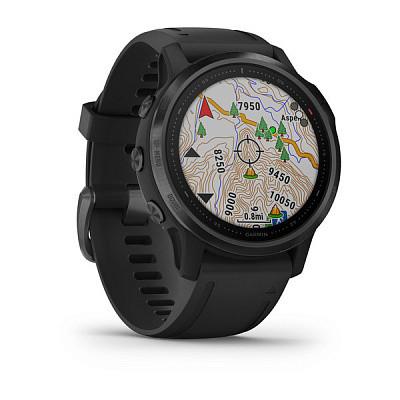 Смарт-годинник Garmin Fenix 6S Pro Black with Black Band з чорним ремінцем