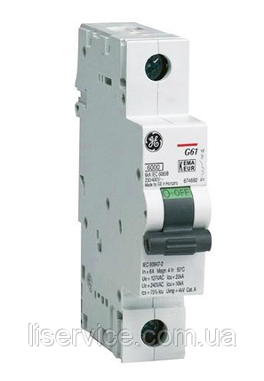 Автоматичний вимикач General Electric G61 C25 6kA 1р, фото 2