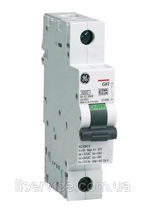 Автоматичний вимикач General Electric G61 C10 6kA 1р, фото 2