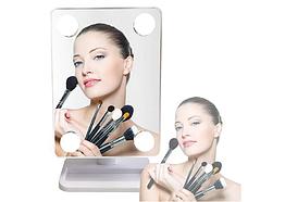 Дзеркало потрійне для макіяжу з LED підсвічуванням Cosmetie Mirror білий, косметичне дзеркало з підсвічуванням