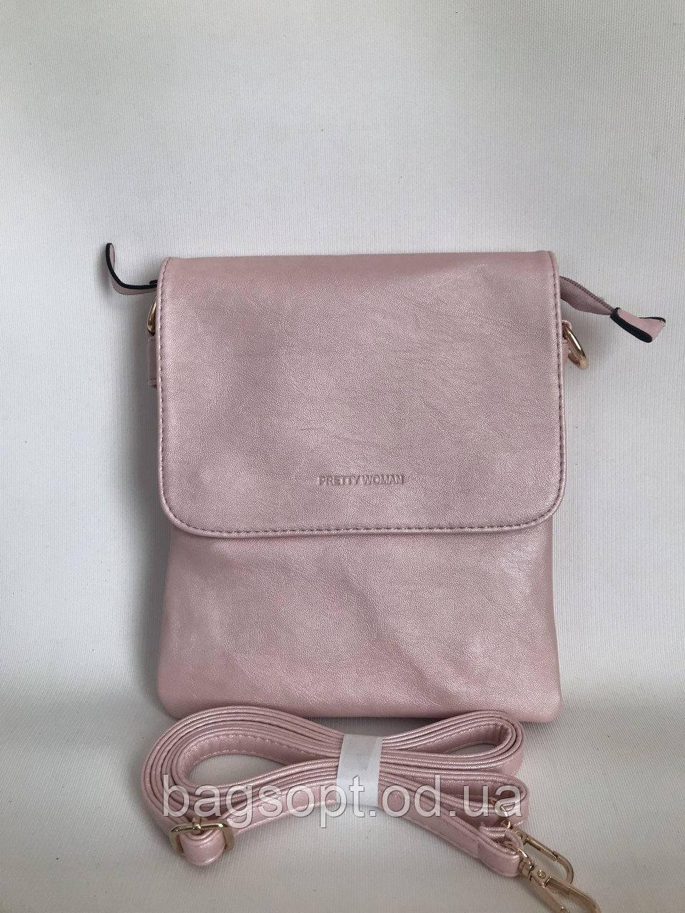 Летняя розовая сумка-планшет через плечо Pretty Woman Одесса 7 км