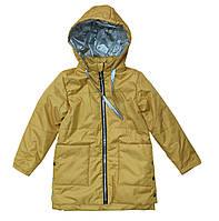 Куртка детская для девочки горчичная 128, 134, 140