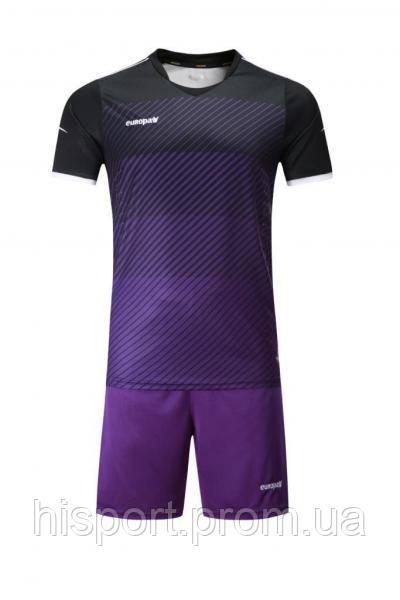 Игровая футбольная форма для команд черно-фиолетовая 017 Europaw