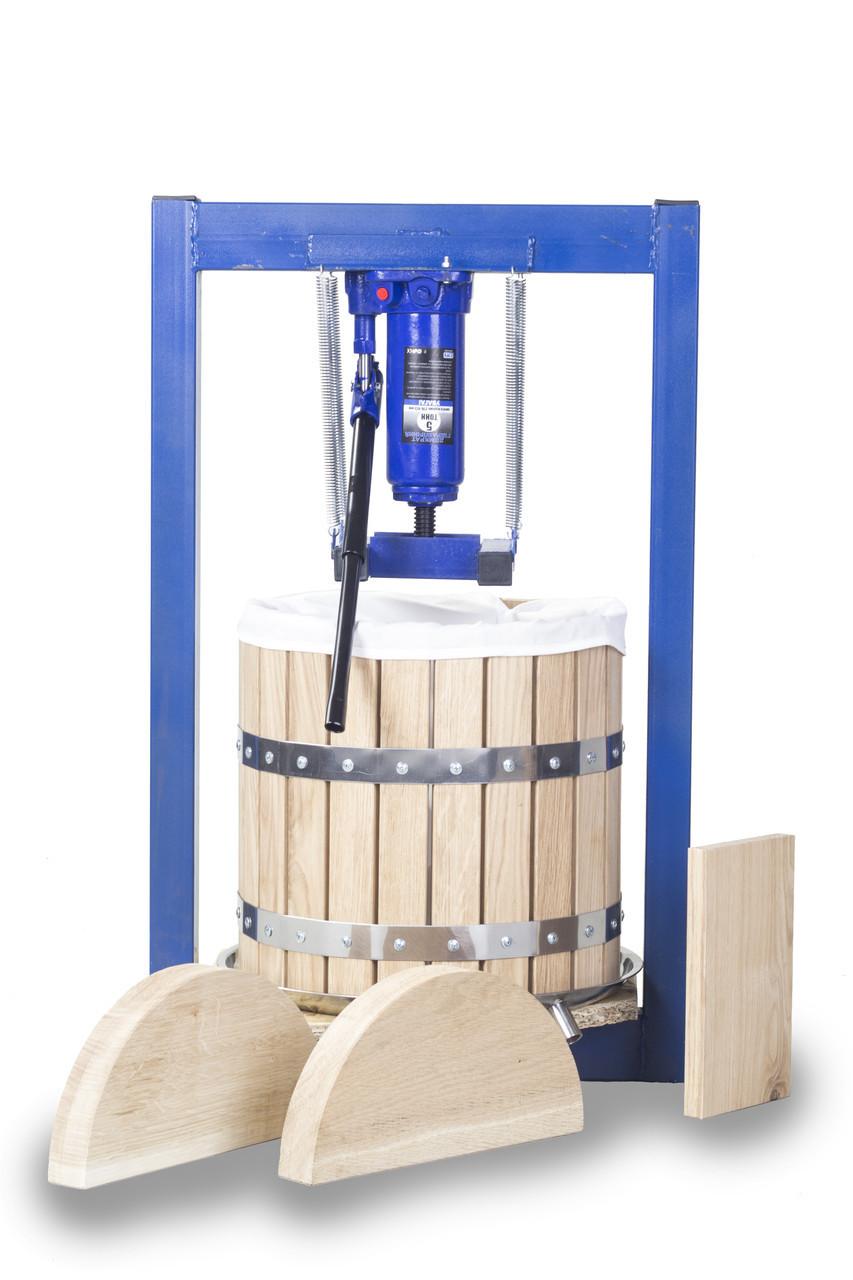 Пресс ручной для винограда 25л с домкратом, давление 5 тон.