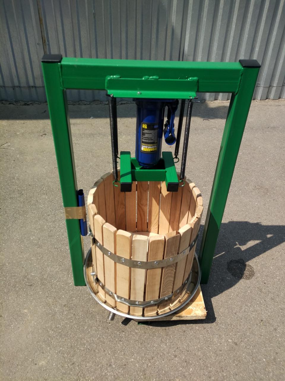 Пресс для сока механический 25л с домкратом, давление 5 тон.