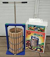 Пресс для яблок и винограда Вилен 25л с дубовой корзиной, фото 1