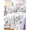 Набор постельное белье с пледом Karaca Home - Elsira lila 2020-1 лиловый евро, фото 2