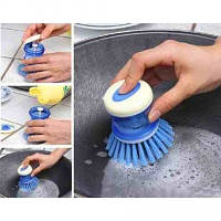 Щетка для мытья посуды с дозатором, фото 1