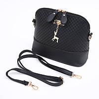 Женская сумка клатч Бэмби / Сумка Бемби черная