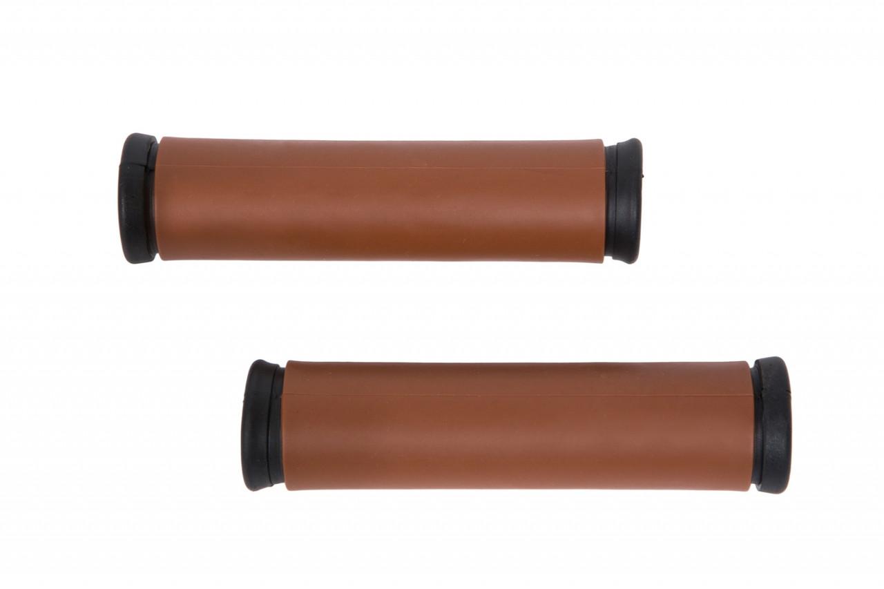 Грипсы TPR L120mm / R120mm коричневый XH-118
