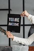 Тетрадь А4 в линейку ' You are Awesome', TM 'Olena Redko'