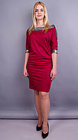 Платье Клео бордо
