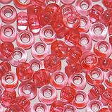 Чешский бисер Preciosa 10 для вышивания Бисер коралловый прозрачный 01191, фото 2