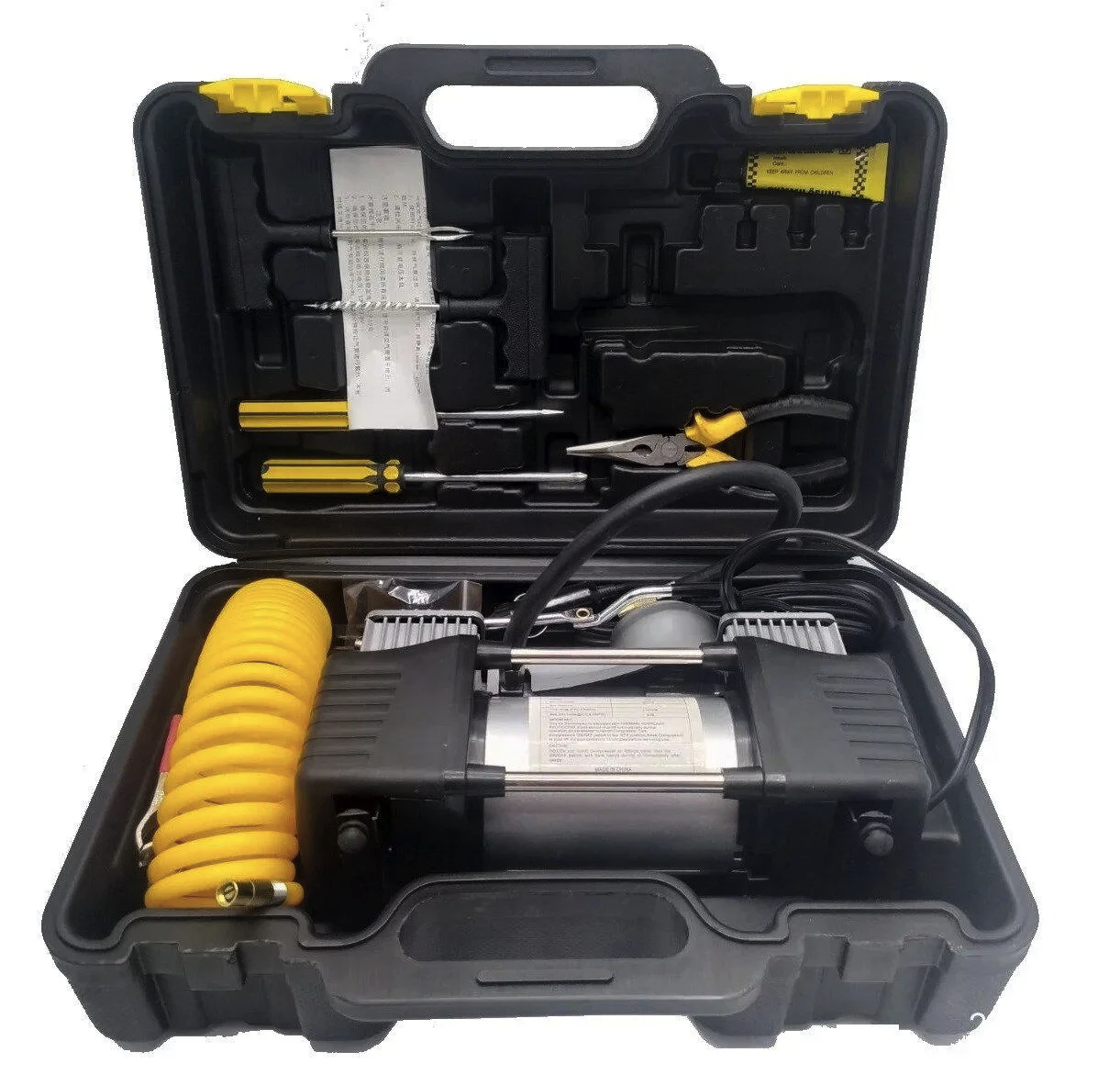 Автомобильный компрессор с набором инструментов BLACK.BOX 2m (DOUBLE BAR KIT TOOLBOX)