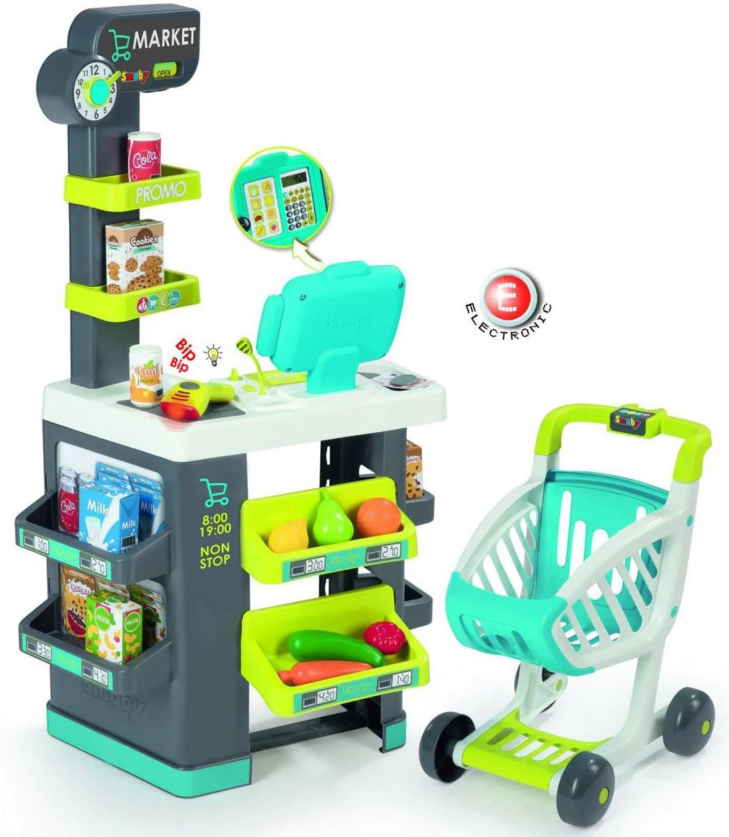 Дитячий інтерактивний супермаркет Smoby Toys City Market 3+ 350212 ігровий набір для дітей