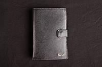 Мужское кожаное портмоне с отделом для документов Karya чёрный 0405