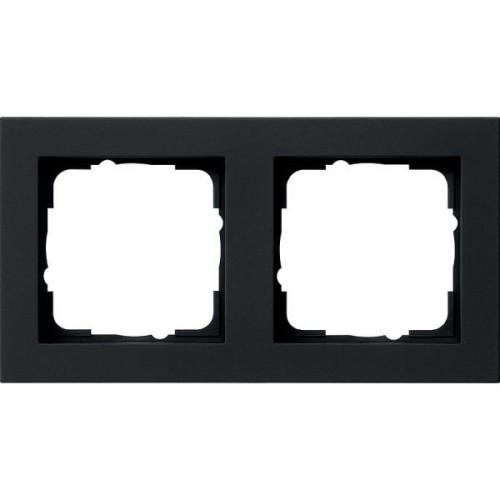 Рамка 2-пост. GIRA E2 чёрный матовый