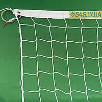 Сетка для волейбола безузловая «ЕВРО» с тросом белая